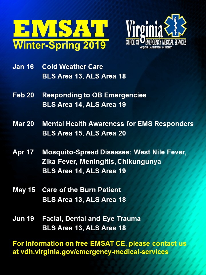2019 Winter Poster EMSAT Graphic
